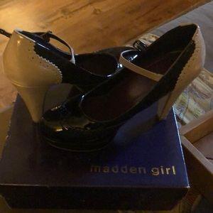 Patten pumps high heels